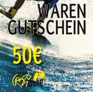Gutschein Crazywake Shop Euro 50