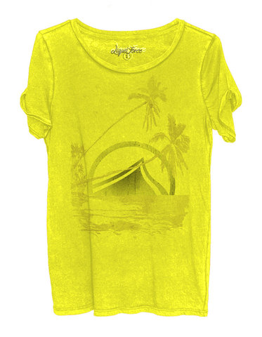 Liquid Force - Paradise Womens Tee / Yellow